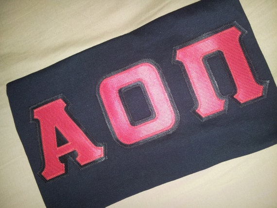 medium alpha omicron pi stitched letters by jlynncustomapparel With pi kappa alpha stitched letters