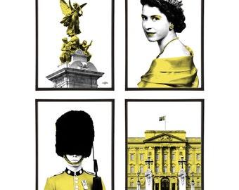 Royal London Group of 4 Pop Art Prints