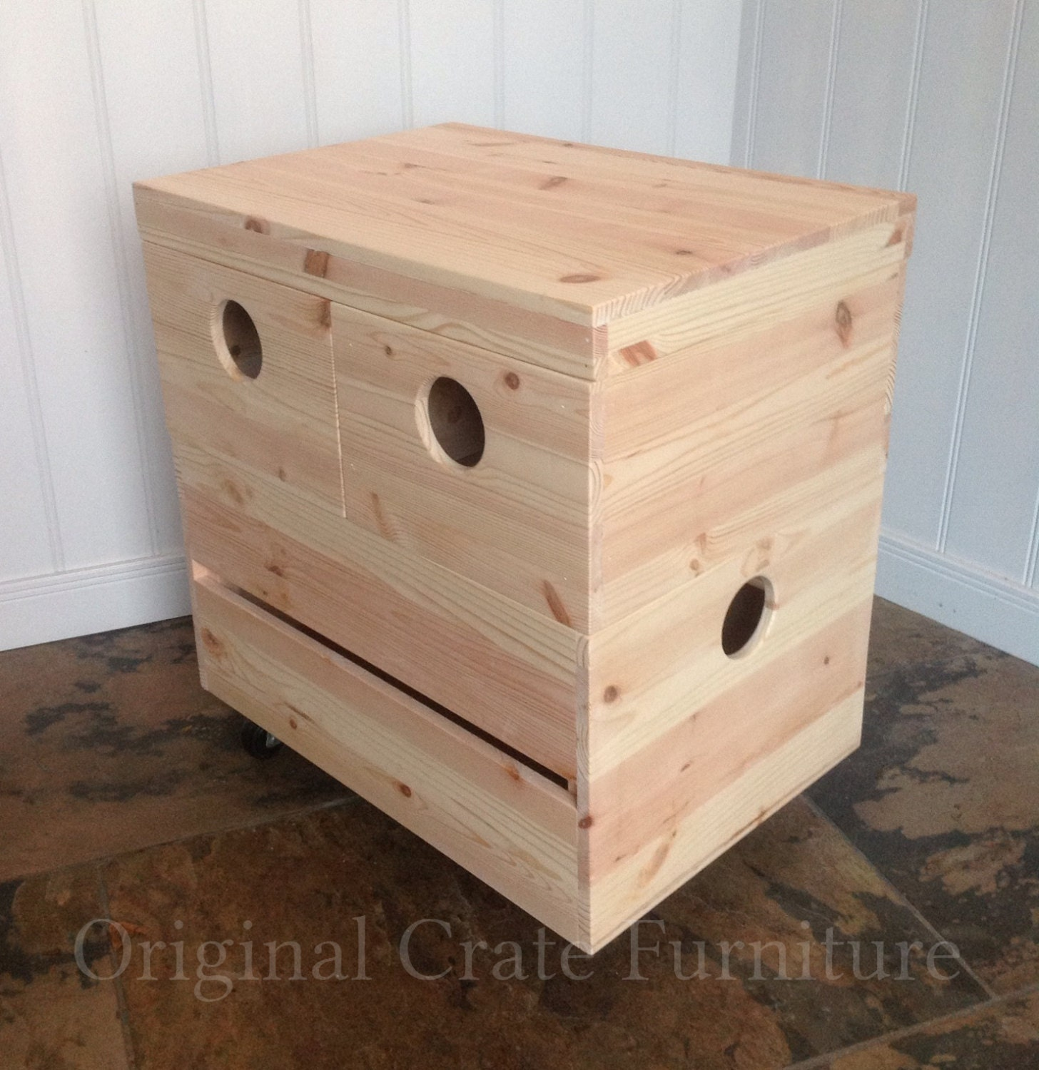 Coffee Table Or Side Table Crate Made From Our Stacking