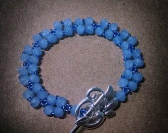 Periwinkle Blue Crystal Bracelet