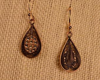 Earrings- Gold Wire Drops