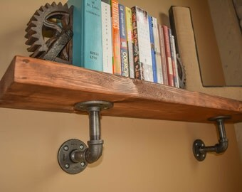 Handmade Industrial Pipe Shelf (Bookshelf) Decor