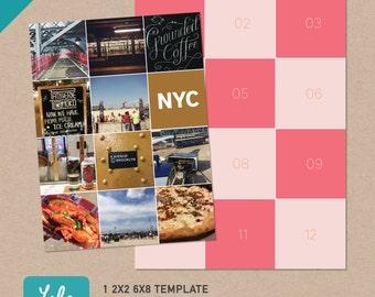 6x8 Digital Template – for 2x2 photos