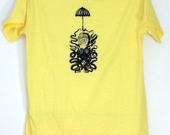 Octopus with Umbrella Shirt - You can never be too prepared...