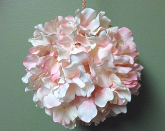 Pink Hydrangea Kissing Ball