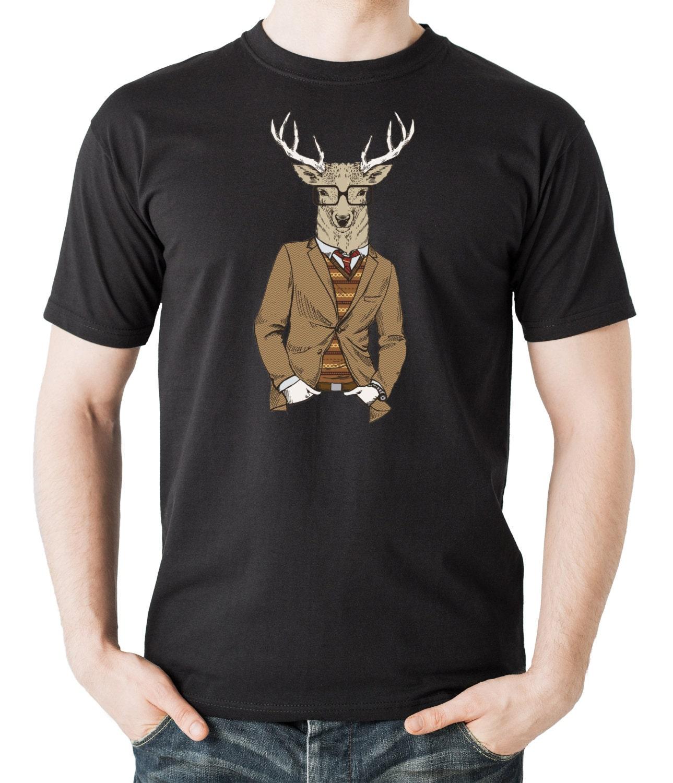 christmas deer hipster style tshirt christmas tee shirt gift