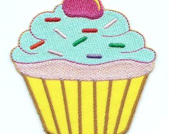 Cupcake Iron On Patch Embroidered Applique