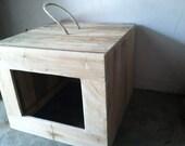 Rustic Cat Litter Box Cover, Primitive Cat Litter Box Cover, Litter Box Cover, Reclaimed Wooden Litter Box Cover