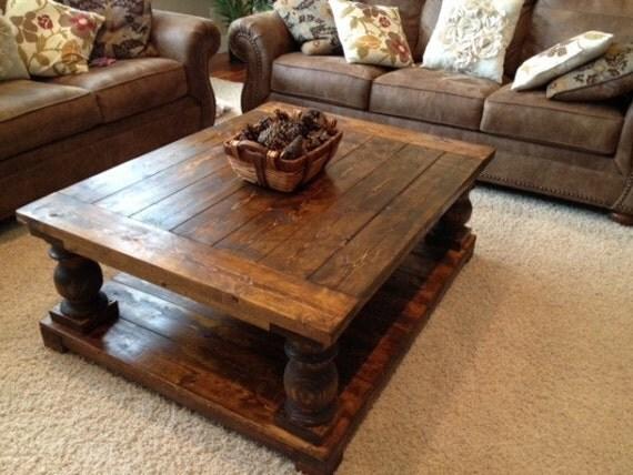 Items Similar To Balustrade Turned Leg Coffee Table On Etsy