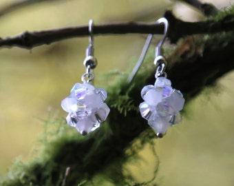 White Earrings - Snowball Earrings - Winter Earrings -Snow Earrings - Winter Gift - Stocking Filler - Holiday Gift - Holiday Earrings