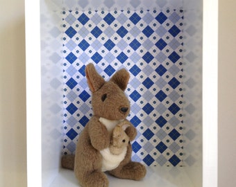 REDUCED - Shadow box - Wall Display Box, Wall Shelf, Boys Shadow Box, Display Box, Modern Shadow Box