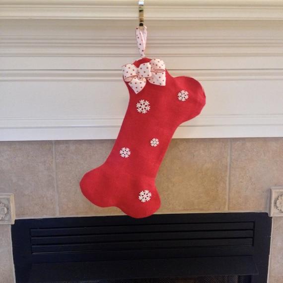 Personalized dog christmas stocking personalized dog bone for Personalized dog christmas stocking
