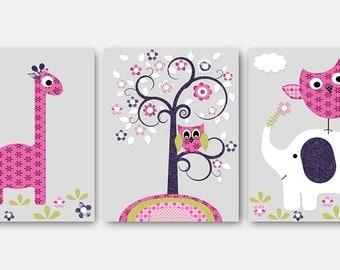 Digital Download Print Instant Download Digital Baby Nursery Decor Baby Girl Nursery Decor Download Digital Art Download set of 3 8x10 11X14