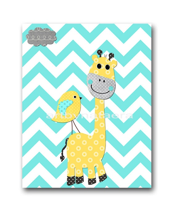 Aqua instant download elephant nursery baby nursery print baby for Chambre 8x10