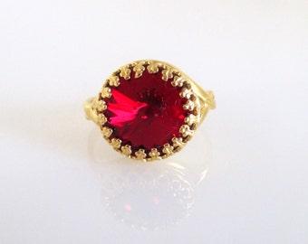 Swarovski Crystal Gold Ring,Swarovski Ring, Swarovski Crystal Ring,Ring Swarovski,Crystal ring,Crystal Ring Gold,Gold Crystal Ring,Gold Ring