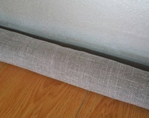 Taupe Gray Door Snake Door Draft Window snake Upholstery Fabric COVER ONLY Draught Excluder grey door draft stopper