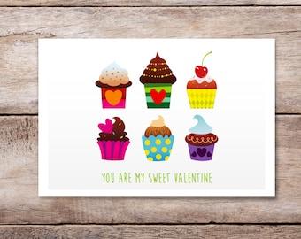 Happy Valentine's day, Printable Valentine Card, Valentine Card, Romantic Valentine, Funny Valentine CardValentine's Heart