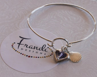 Bangle Bracelet with Charms - BR-029