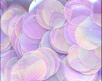 Clear Lilac Disc Sequins 24mm - JR02875