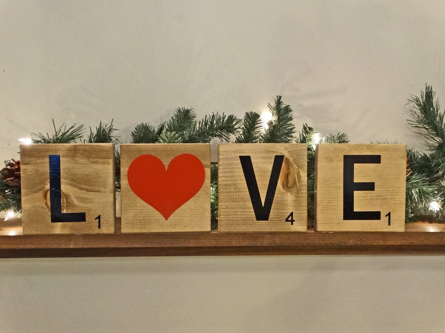 Scrabble Tiles Large 5x5 Wall Decor Ready To Hang Or Stand