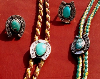 Sterling Silver and Turquosie Bolo Tie