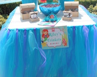 Tutu Tulle Table Skirt (over 37 colors options)