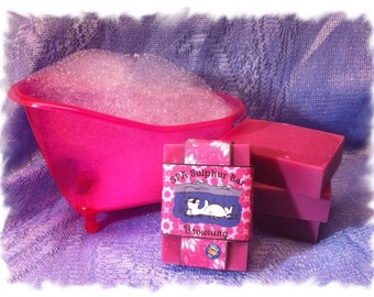 Homemade/Handmade Soap Blackberry Sage _ Browning  _ SPA Sulphur Mineral Soap Made in Montana