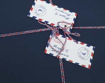 Beautiful Airmail Baby Invitations