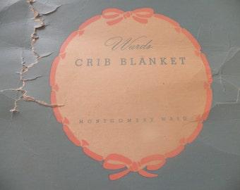 Darling Vintage Baby Blanket  Still in Box