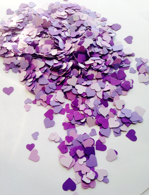 2000 Purple Mini Heart Confetti Purple Wedding Decor