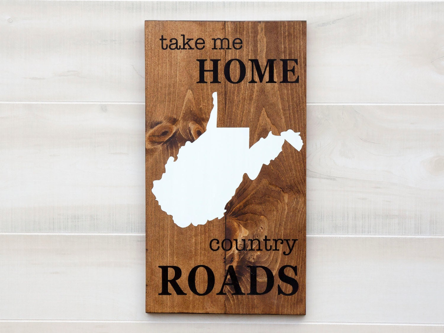 West Virginia reclaimed wood state shape sign wall art Take Me Home Country  Roads. Pallet - Virginia Sign Etsy