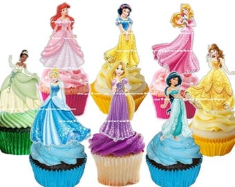 Princesses  Cupcake Topper (24pcs)