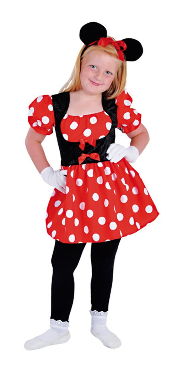 girls mini mouse costume with ears by costumeheaven on etsy. Black Bedroom Furniture Sets. Home Design Ideas
