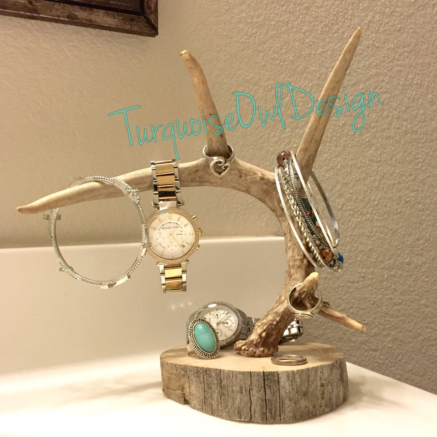 antler jewelry holder deer antler jewelry by