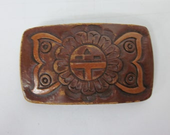 Vintage Belt buckle covered in leather