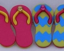 Miniature Flip Flop Shank Buttons, Miniature Fairy Gardens, Terrariums, Sewing, Crafts