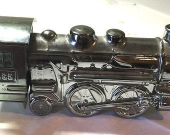 Avon Silver Locomotive After Shave Decanter Deep Woods