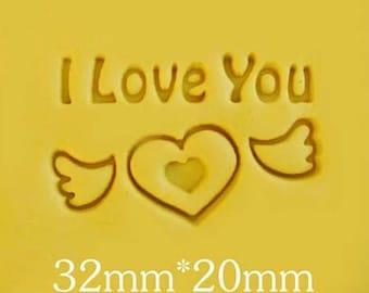 Mini Soap Stamp Handmade Soap Stamp I Love You Resin Mold Love Heart Soap Stamp Natural Soap Stamp