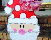 Christmas Door Hanger, Santa Door Hanger, Christmas Wreath, Christmas Door Decor, Seasonal Door Hanger, Santa Claus Door Hanger
