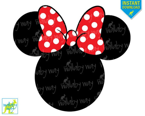 Monster image with minnie mouse silhouette printable