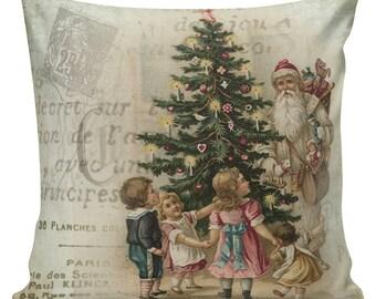 Santa Pillows, ,Christmas Decor, Christmas Pillow Covers, Tree Pillow, Christmas Tree Pillow, #CC0003, Farmhouse Christmas, Country Decor