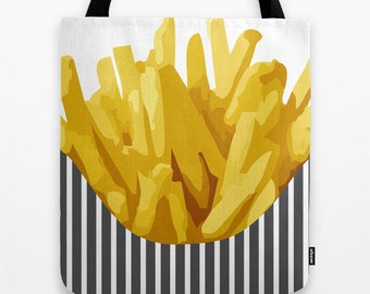 Food Tote Bag -Chip Tote Bag - 16x16 18x18 20x20 - Cute Tote Bag - Funny Tote Bag - Cute Tote Bag -  Potatoes Chips - Grocery BagSpring