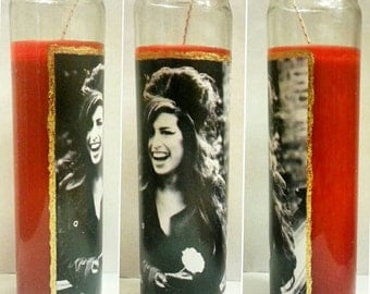 Amy Winehouse Flower Candle