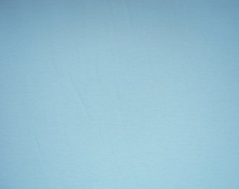 Pale Blue Cotton Lycra Solid Knit Jersey Fabric Four way Stretch Spandex Fabric by the Yard