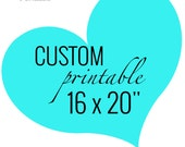 """Custom Printable Quote, 16x20"""" personalized quote, your words, wall art print, home décor, poster, typography art Printable Expressions"""