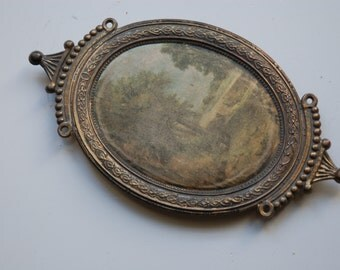 Square antique cameo made in Italy