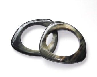 1 SINGLE Assymetrical Horn Bangle  || Bubalis Buffalo Horn Bangle