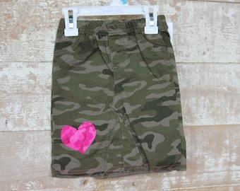 Little Girl's Camo Skirt Size 24 Months