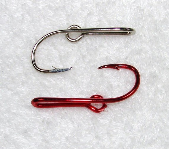 1 candy apple raspberry and 1 chrome silver colored by for Fishing hat pins
