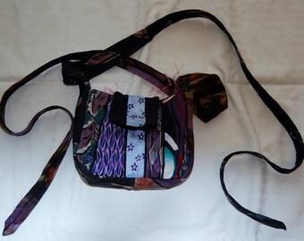 Tie Purse  - Purple